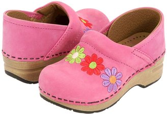 Dansko Gitte Embroidered (Toddler/Youth) (Fuchsia Nubuck) - Footwear
