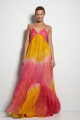 Diane von Furstenberg Extravaganza Dress in Guava & Canary