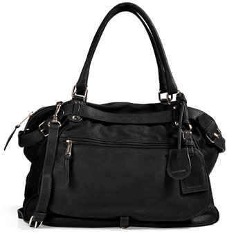 Vanessa Bruno Leather Tote with Shoulder Strap in Black