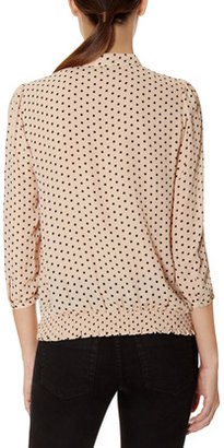 The Limited Polka Dot Bow Blouse