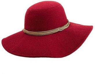 Charlotte Russe Chained Brim Floppy Hat