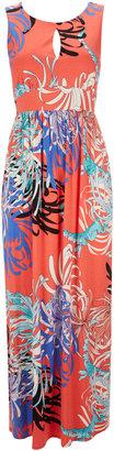 Wallis Petite Coral Flower Maxi Dress