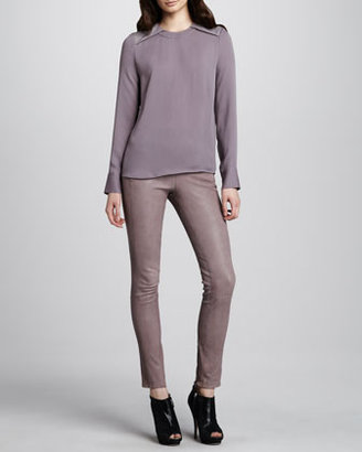 J Brand Ready to Wear Morgan Leather Skinny Pants