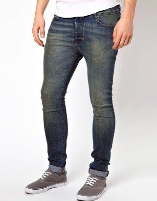 Asos Super Skinny Jean In Dark Wash