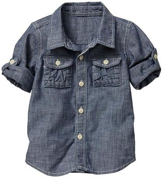 Gap Chambray convertible shirt
