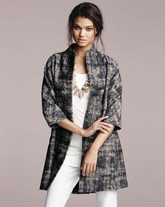 Eileen Fisher Illusion Jacquard Coat, Women's