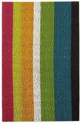 Chilewich Bold Stripe Indoor/Outdoor Shag Mat, 18