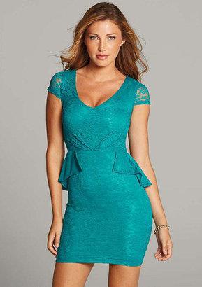 Blu Heaven Quinn Lace Peplum Dress