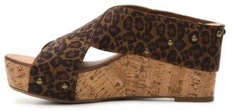 Crown Vintage Delight Leopard Wedge Sandal