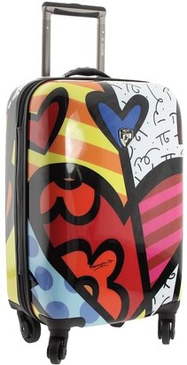 Heys Britto Collection - A New Day 22 Spinner Luggage Case (Hearts) - Bags and Luggage