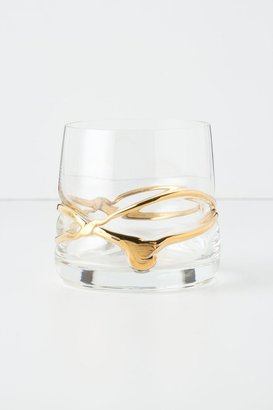 Anthropologie Twisted Gold Tumbler