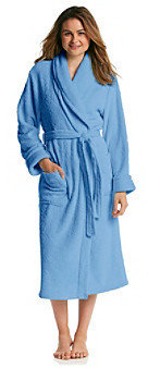 Jasmine Rose® Textured Microfleece Wrap Robe