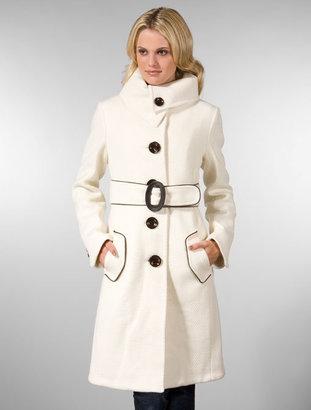Soia & Kyo Joana Z 3/4 Belted Coat in Off White