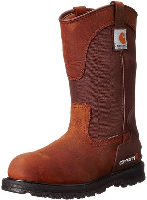 "Carhartt Men's 11"" Wellington Waterproof Soft Toe Pull-On Leather Work Boot CMP1100"