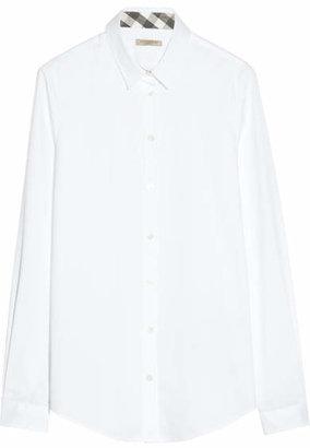 Burberry - Stretch-cotton Shirt - White $250 thestylecure.com