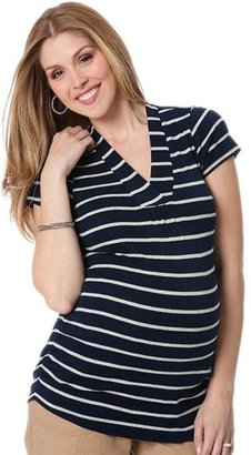 Oh Baby by motherhood TM striped ruched tee - maternity