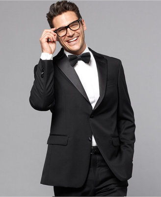 Tommy Hilfiger Black Classic-Fit Tuxedo Jacket $425 thestylecure.com
