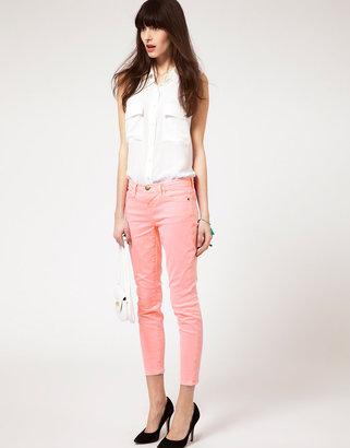 Current/Elliott Stiletto Skinny Jeans In Solid Neon