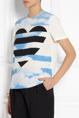 Moschino Cheap & Chic Moschino Cheap and Chic Printed crepe T-shirt