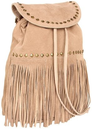 Steve Madden Let The Suede Begin Backpack (Taupe) - Bags and Luggage
