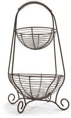 Sur La Table Two-Tiered Basket Stand