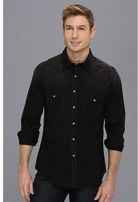 Rock and Roll Cowboy L/S Snap (Black 5) Men's Long Sleeve Button Up