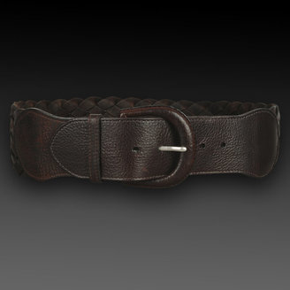 Thomas Pink Brown Tess Woven Women's Belt