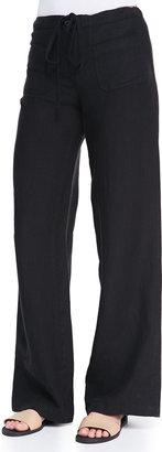 Vince Wide-Leg Linen Beach Pants