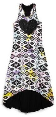 Flowers by Zoe LIttle Girl's Sequin Heart Maxi Dress
