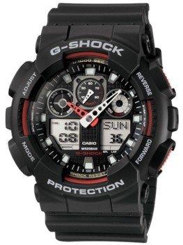 G-Shock Men's Analog Digital Black Resin Strap Watch GA100-1A4