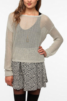 Urban Outfitters byCORPUS Metallic Mesh Sweater