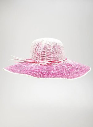 David & Young Ombre Crown Weaved Floppy Hat