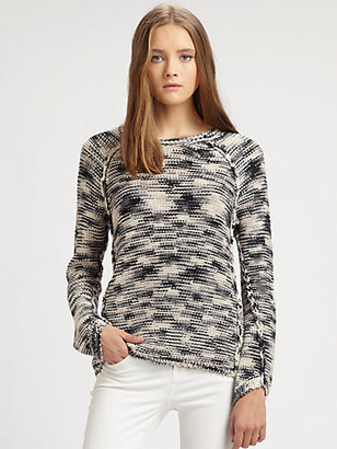 Rebecca Taylor Marled Pullover