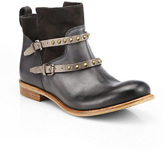 Alberto Fermani Emma Studded Leather & Suede Ankle Boots