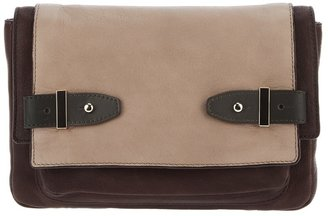 Tila March leather clutch handbag