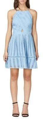 Adelyn Rae Kyra Woven Fit And Flare Lace Dress