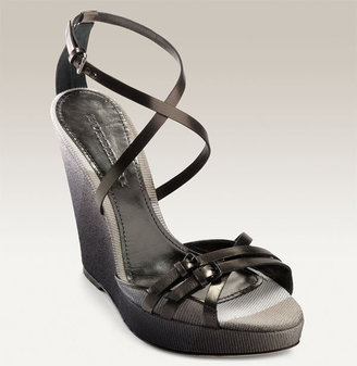 Burberry Sprayed Icon Wedge Sandal