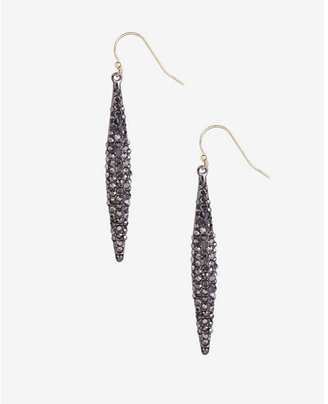 Express Pave Embellished Oblong Drop Earrings $26.90 thestylecure.com