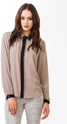 Forever 21 Sequined Collar Shirt