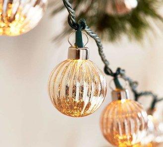 Pottery Barn Silver Mercury Glass String Lights