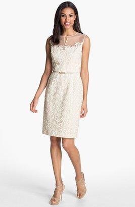 Maggy London Floral Lace Sheath Dress