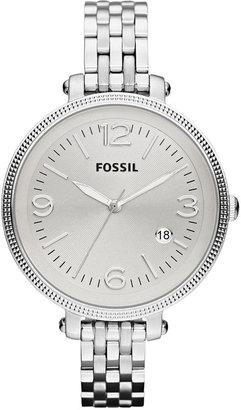 Fossil Watch, Women's Heather Stainless Steel Bracelet 42mm ES3129