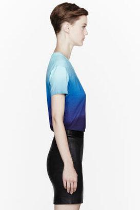 Jonathan Saunders Blue Ombre Micro Modal Boyfriend T-Shirt