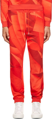 Christopher Kane Red Page Print Lounge Pants $610 thestylecure.com