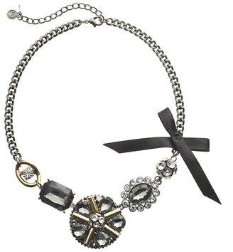 Vera Wang Simply vera two tone simulated crystal & bow necklace