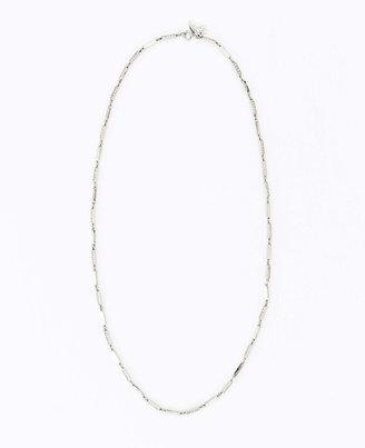 Ann Taylor Delicate Pave Link Long Necklace