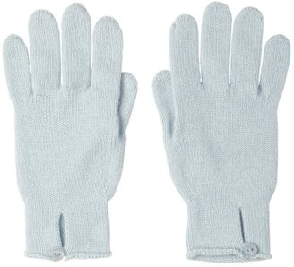 Johnstons of Elgin Button Loop Womens Cashmere Gloves Powder Blue