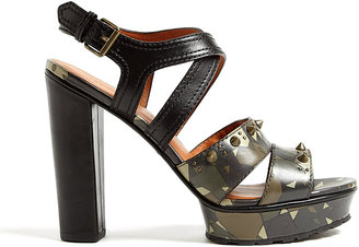 Marc by Marc Jacobs Dries Camouflage Studded Heeled Sandals