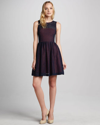 French Connection Mesh A-Line Dress