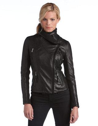 MICHAEL Michael Kors Asymmetrical Knit Collar Jacket